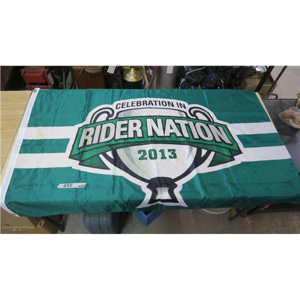 "Saskatchewan Roughriders FLAG - Riders Nation 2013 - 59""X36"""