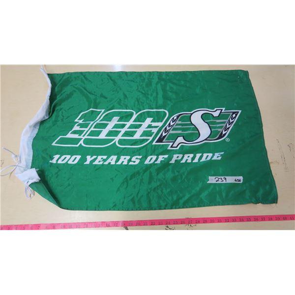 "Saskatchewan Roughriders FLAG - 100 Years of Pride - 37""X24"""