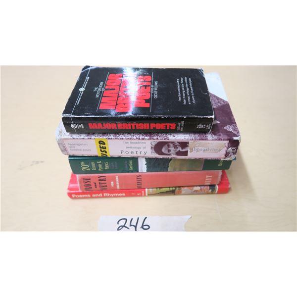 Poem/Poetry Books X5