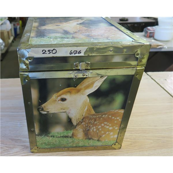 """Toy Box (Deer Picture) 15""""X17 3/4""""X17 3/4"""""""