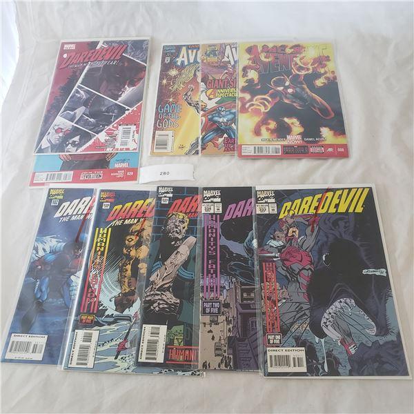 10 Comics Marvel Avengers Daredevil