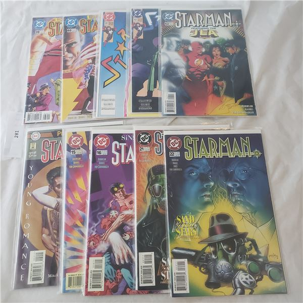 10 Comics Marvel D.C. Starman JLA