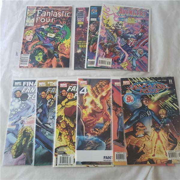 10 Comics Marvel Fantastic Four Avengers