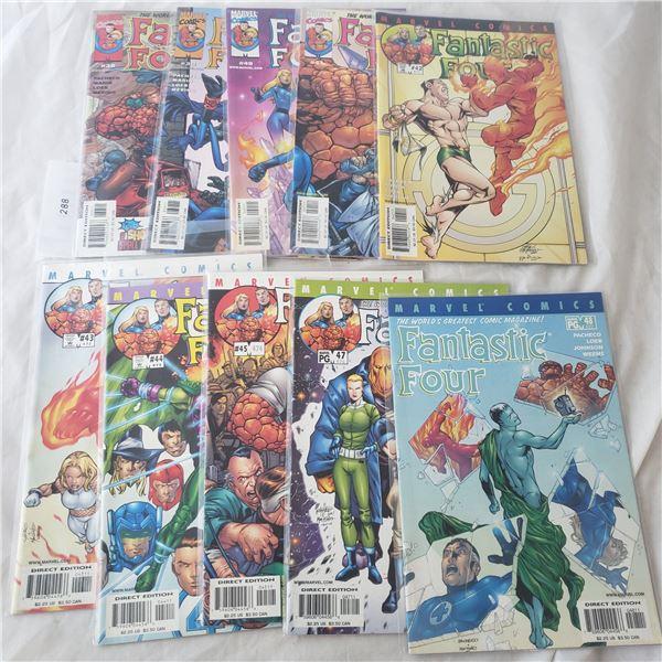 10 Comics Marvel Fantastic Four