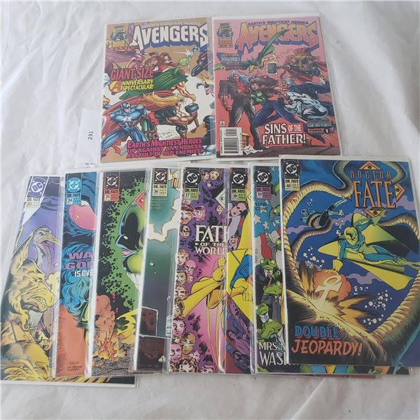 10 Comics MARVEL Avengers Dr Fate