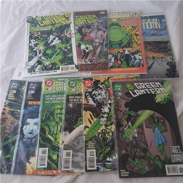 10 Comics D.C. Green Lantern