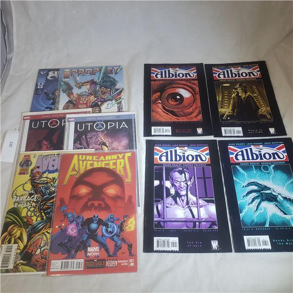 10 Comics MARVEL / IMAGE Avengers Dark Avengers Utopia,Albion ,