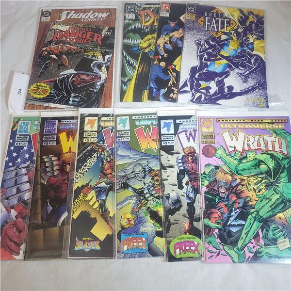 10 Comics MALIBU D.C. Doctor Fate , The Shadow Strikes, Wrath
