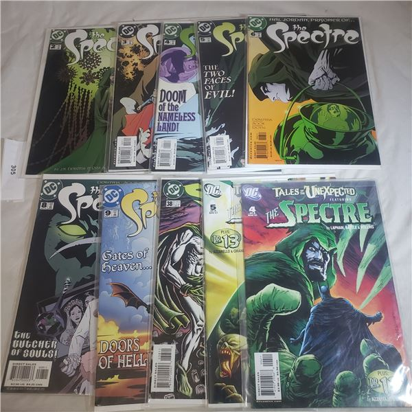10 Comics D.C. The Spectre, Tales of the Unexpected