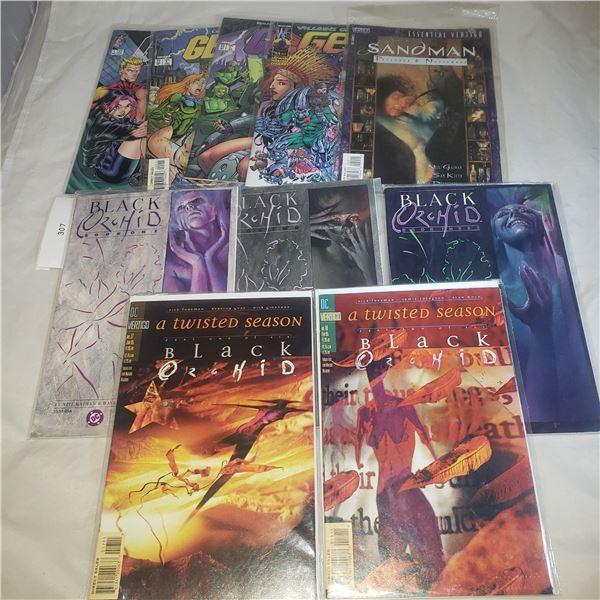 10 Comics Image D.C. Black Orchid Gen 13 Sandman