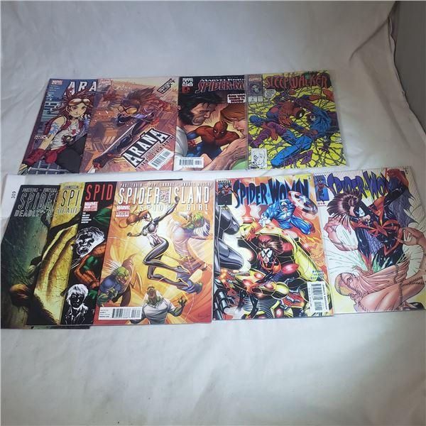 10 Comics MARVEL Spider-Man, Spider Woman, Spider Girl, Arana