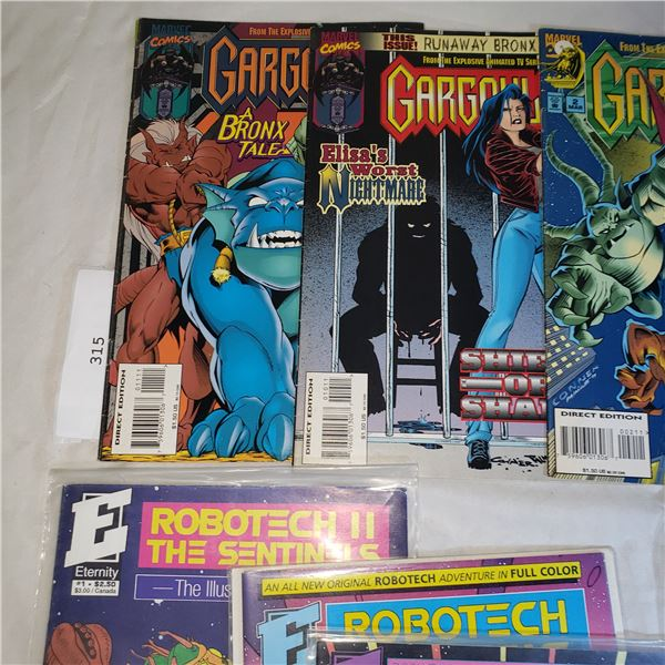 10 Comics MARVEL / ETERNITY Gargoyle, Elf Quest, Robotech II 2 The Sentinels