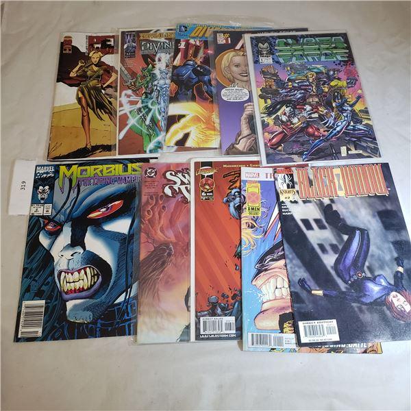 10 Comics MARVEL Morbius, Black Widow, X-Men, #1 American Splendor