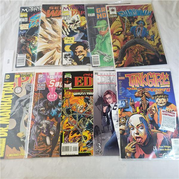 10 Comics MARVEL D.C. Tank Girl, Green Hornet, Shadowman,