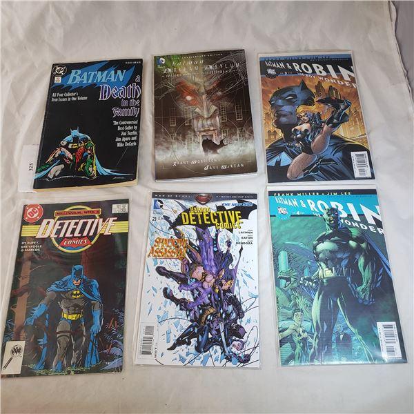 5 Comics + Book D.C. Batman