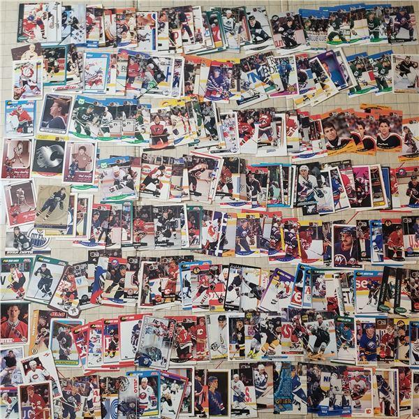 200+ early 90s hockey trading cards