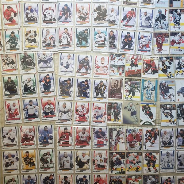 100+ mostly Modern hockey cards
