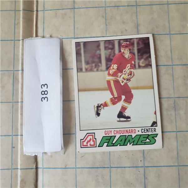 6 1977 OPC O-PEE-CEE NHL Hockey cards Flames, Black Hawks, Barons