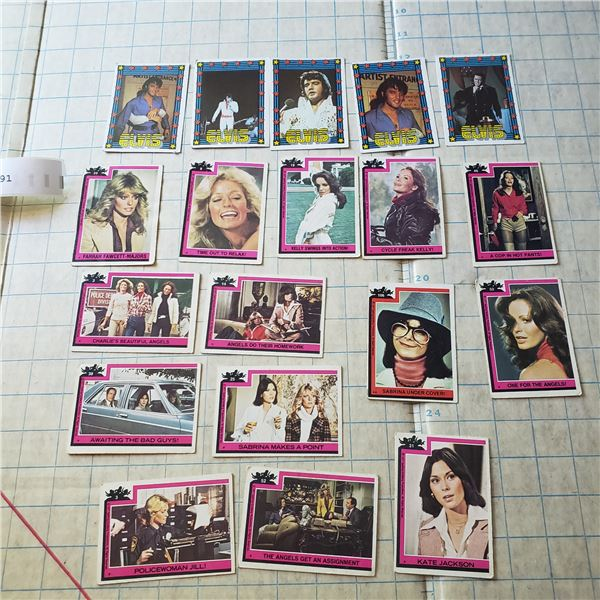 Elvis / Charlies Angels trading Card lot 1970s