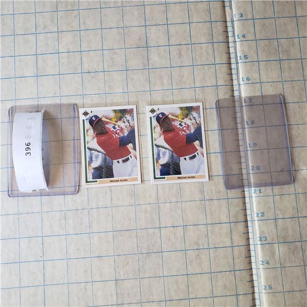 2 Michael Jordan Baseball rookie 1991 Upper Deck Short Print #SP1 (one has little corner wear)