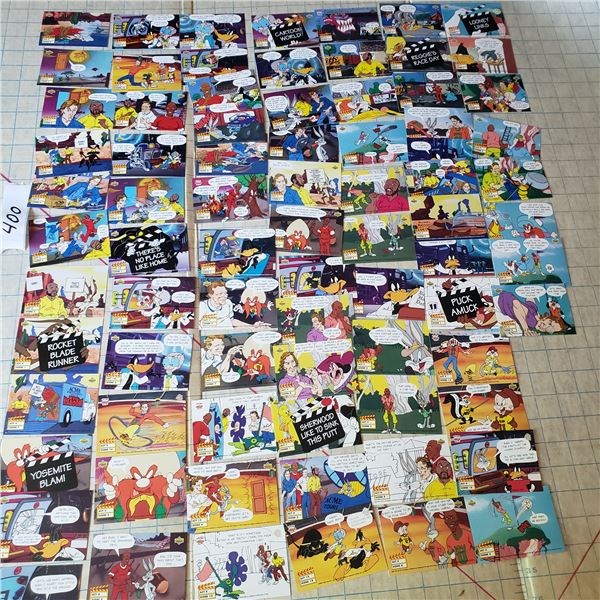 70 plus lot of Loonie Tunes trading Cards Michael Jordan, Wayne Gretzky, Joe Montana, Reggie Jackson