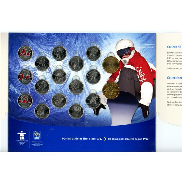 2010 Canadian Commemorative Coin Set - Vancouver Olympic and Paralympic Winter Games/RBC - 17 Coins