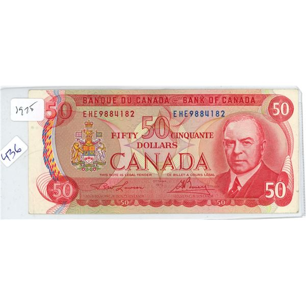 1975 Canadian 50 Dollar Bill