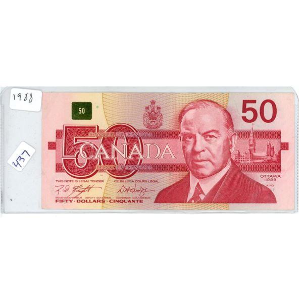 1988 Canadian 50 Dollar Bill