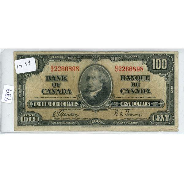 1937 Canadian 50 Dollar Bill