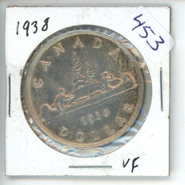 1938 Canadian Silver Dollar
