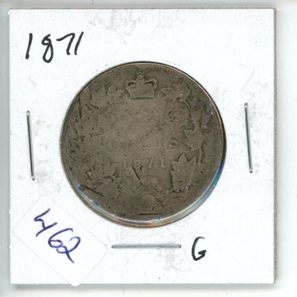 1871 Canadian 50 Cent Coin