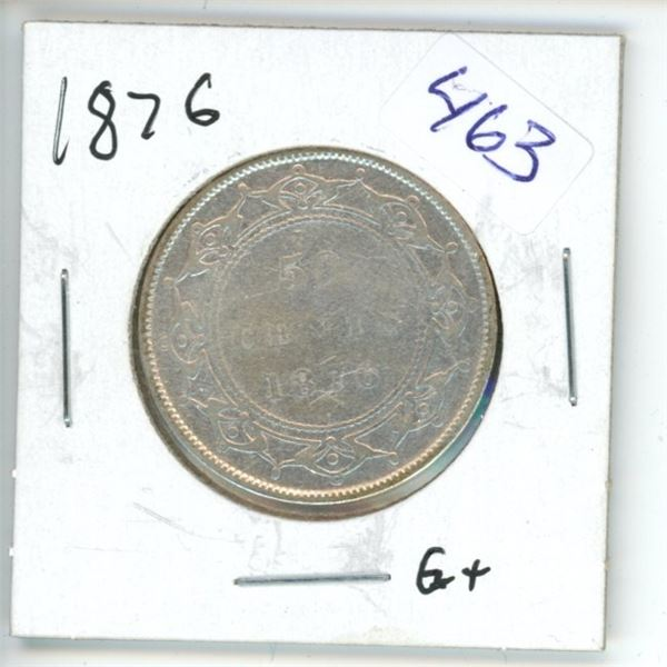 1876 Canadian 50 Cent Coin
