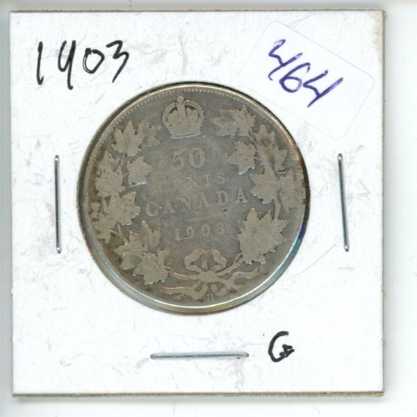 1903 Canadian 50 Cent Coin