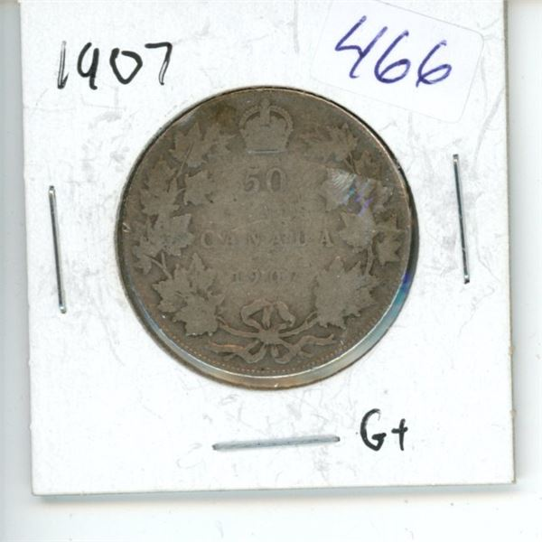 1907 Canadian 50 Cent Coin
