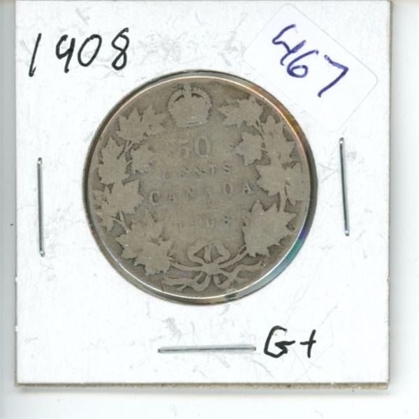 1908 Canadian 50 Cent Coin