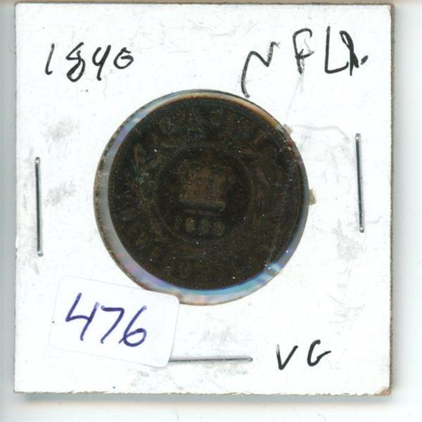 1890 Newfoundland 1 Cent Coin