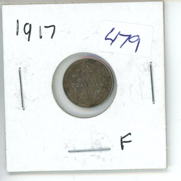 1917 Canadian 5 Cent Coin