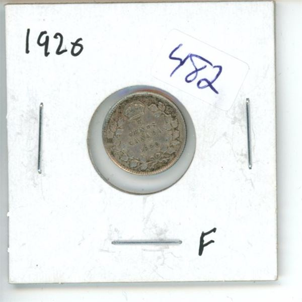 1920 Canadian 5 Cent Coin