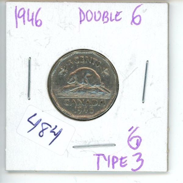 1946 Canadian 5 Cent Coin