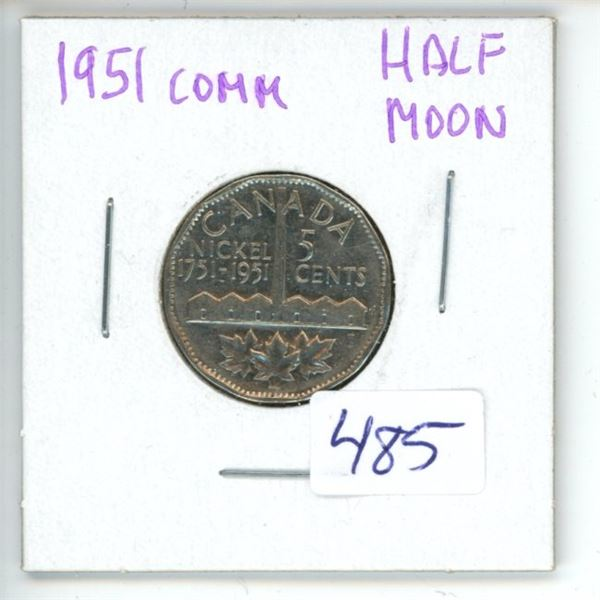1951 Canadian 5 Cent Coin