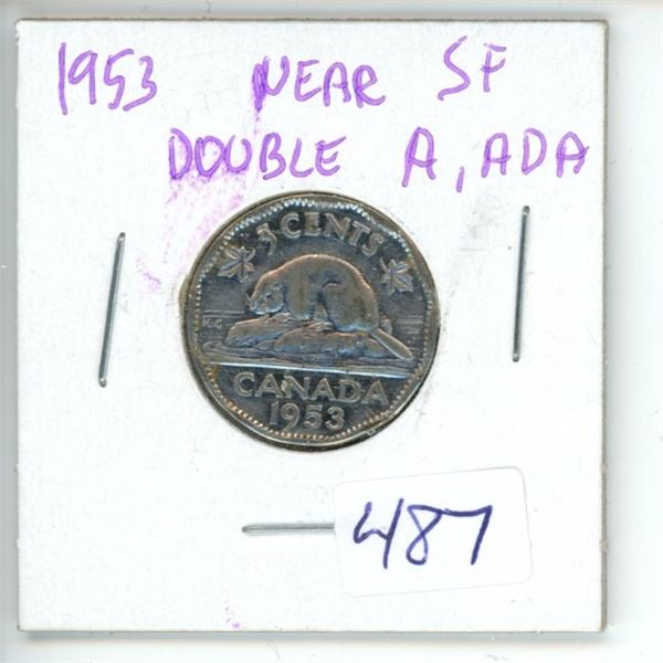 1953 Canadian 5 Cent Coin