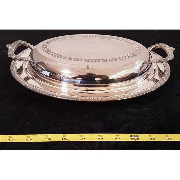 Silver Plated Casserole Dish With Lid