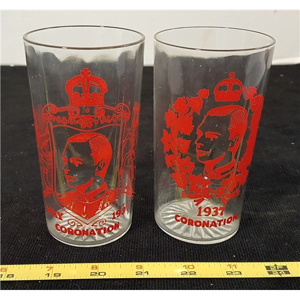 2 X 1937 Coronation Glasses