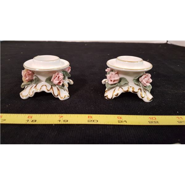 Kurst Germany Floral Candle Holders