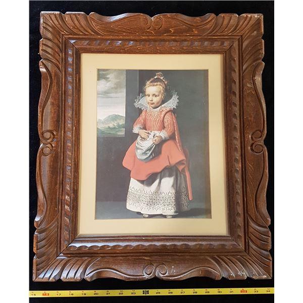 "Print in Ornate Frame ""Magdalena De Vos"" By Cornelius De Vos"