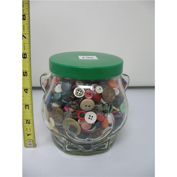 KRAFT PEANUNT BUTTER JAR - Full of Buttons