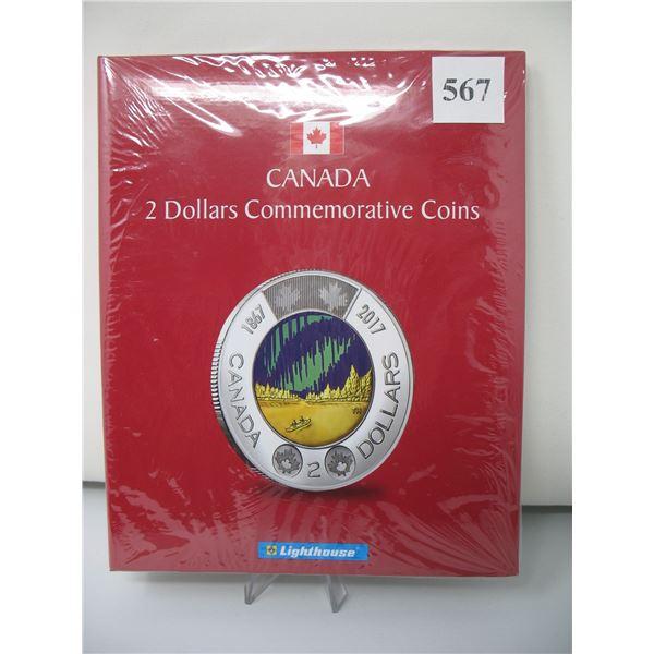 LIGHTHOUSE CANADA 2 DOLLAR COMMEMORATIVE COIN ALBUM - NEW (No Coins)