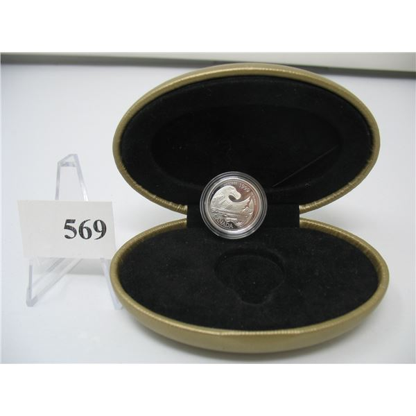 1999 PROOF STERLING SILVER OCTOBER QUARTER in Clamshell Case