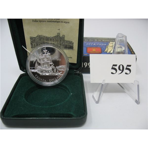 1999 CANADIAN CASED SILVER DOLLAR - QUEEN CHARLOTTE ISLANDS