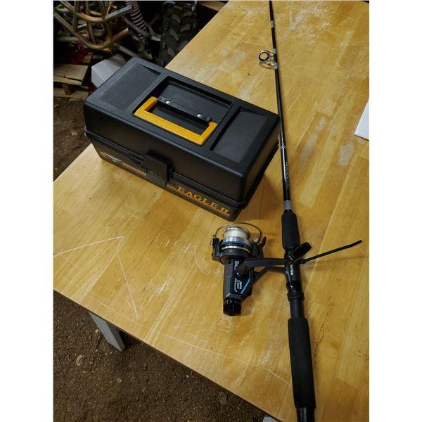 Fishing rod, reel, & tackle box
